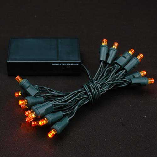 Picture of 20 LED Battery Operated Lights Amber/Orange