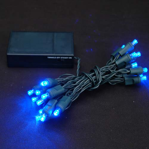 Picture of 20 LED Battery Operated Lights Blue