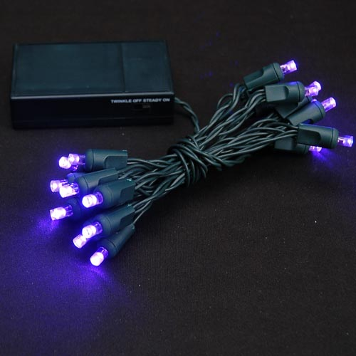 Picture of 20 LED Battery Operated Lights Purple