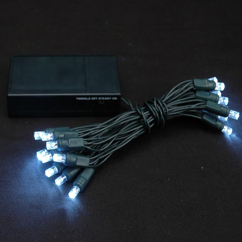 light battery operated lights pure white green wire novelty lights. Black Bedroom Furniture Sets. Home Design Ideas