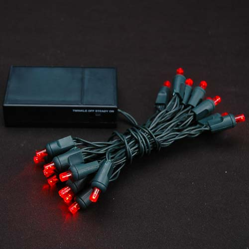 Picture of 20 LED Battery Operated Lights Red