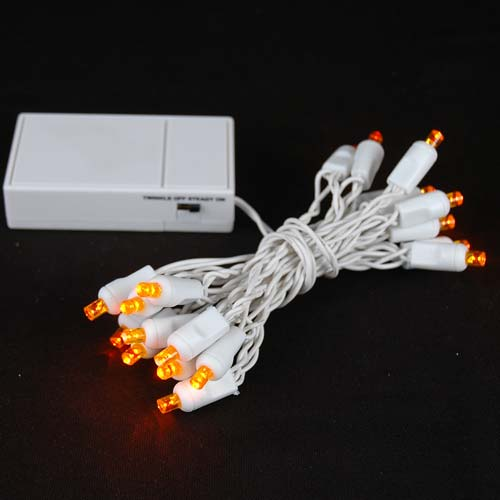 home christmas lights battery operated led mini lights amber