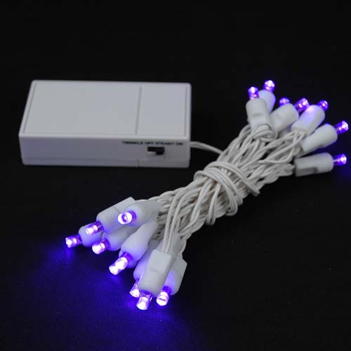 christmas lights battery operated led mini lights purple battery. Black Bedroom Furniture Sets. Home Design Ideas