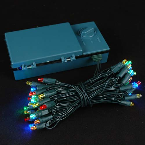 Picture of 50 LED Battery Operated Lights Multi