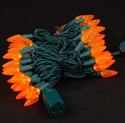 Picture of Amber 70 LED C6 Strawberry Mini Lights **Was $16.75 Now $11.95**
