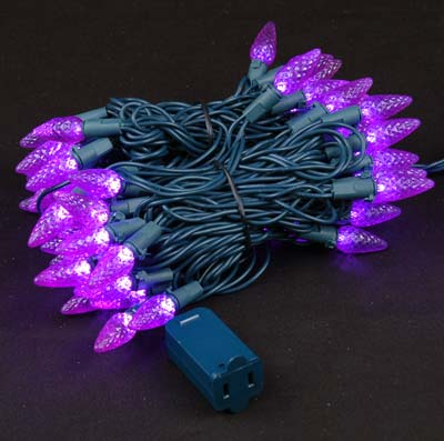 Picture of Purple 70 LED C6 Strawberry Mini Lights