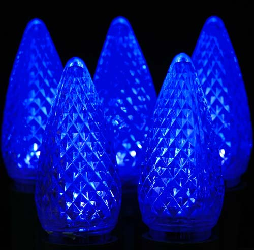 Picture of Dimmable Blue C9 LED Bulbs 25 *On Sale*
