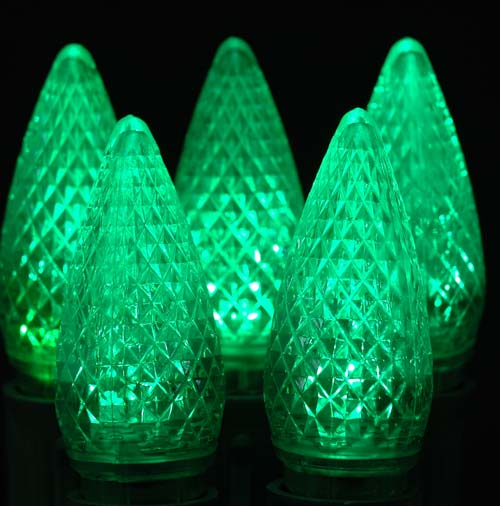 Picture of Dimmable Green C9 LED Bulbs 25 *On Sale*