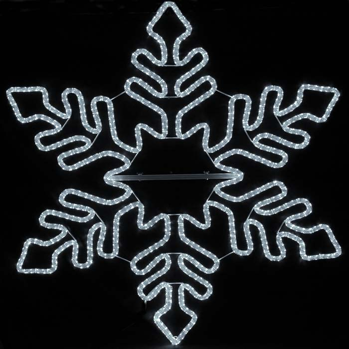 Picture of 5' Fancy LED Snowflake Cool White