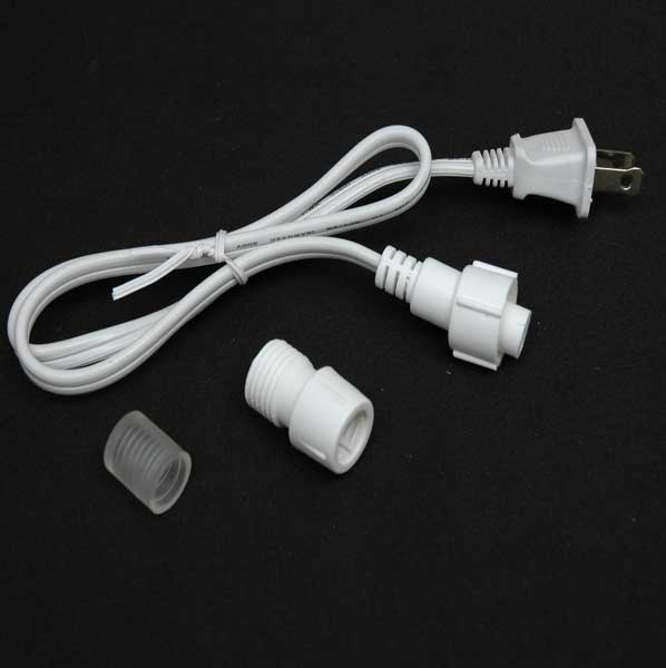 "Picture of 1' Rope Light Connector Kit for 1/2"" 2 Wire Rope Lights"