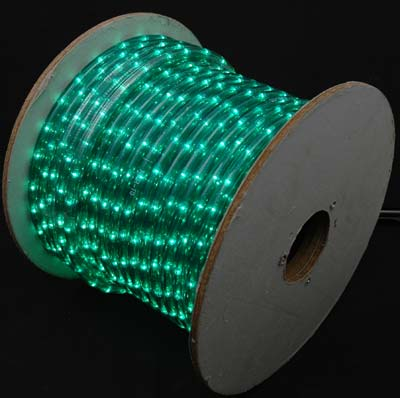 "Picture of 150 Ft Green Rope Light Spool 1/2"" 120 Volt"