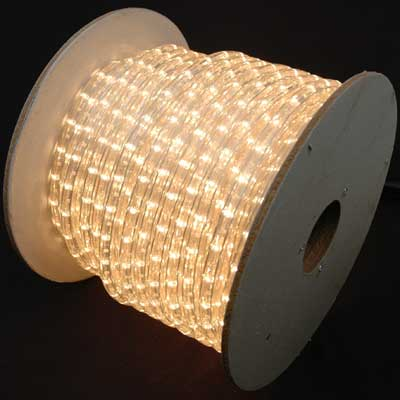 """Picture of Clear 150 Ft Chasing Rope Light Spools, 3 Wire 120v 1/2"""""""