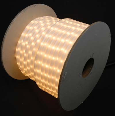 """Picture of Frosted White 150 Ft Chasing Rope Light Spools, 3 Wire 120v 1/2"""""""