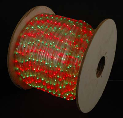 Picture of Red/Green 150 Ft Chasing Rope Light Spools, 3 Wire 120v 1/2""