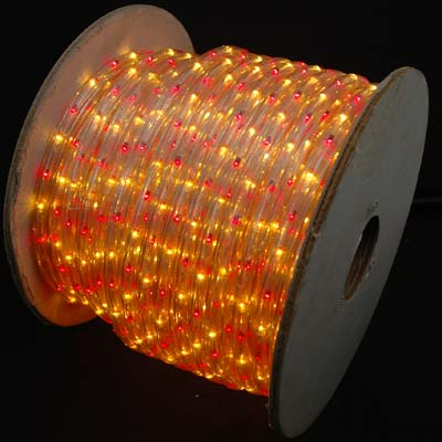 Picture of Red/Yellow 150 Ft Chasing Rope Light Spools, 3 Wire 120v 1/2""