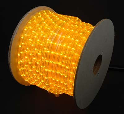 Picture of Yellow 150 Ft Chasing Rope Light Spools, 3 Wire 120v 1/2""