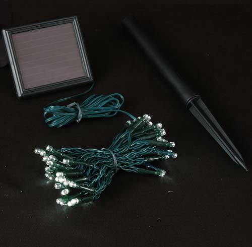 Picture of Warm White LED Solar Powered Lights 50 Light String