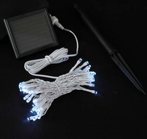 White Wire Battery Operated Christmas String Lights - Novelty Lights Inc