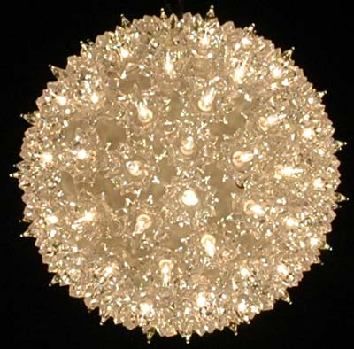 Picture of Clear 100 Light Starlight Sphere 7.5""