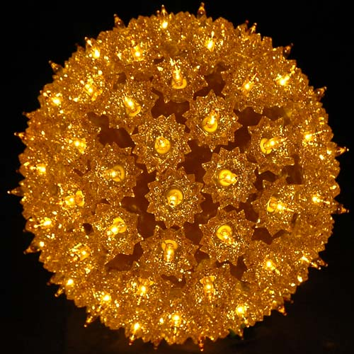 Picture of Gold 100 Light Starlight Sphere 7.5""