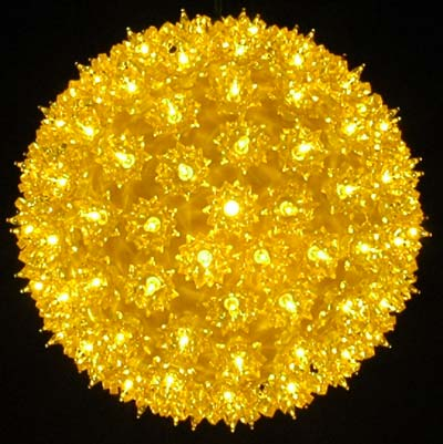 Picture of Yellow 150 Light Starlight Sphere 10""