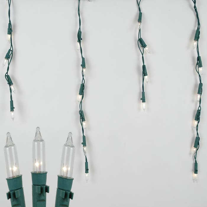 Picture of Pro-Line Icicle Lights Green Wire Medium Drops