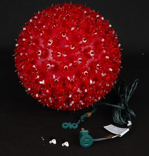 Red quot starlight sphere light christmas ball