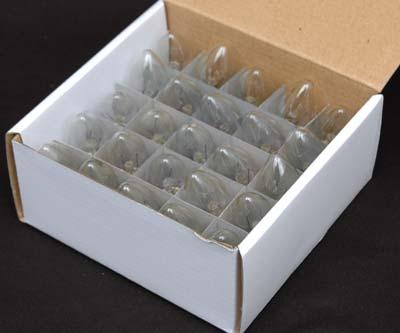 Clear C7 7 Watt Christmas Bulbs 25 Pack - Novelty Lights, Inc