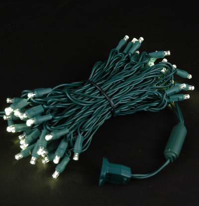 Picture of Commercial Grade Wide Angle 50 LED Warm White 25' Long