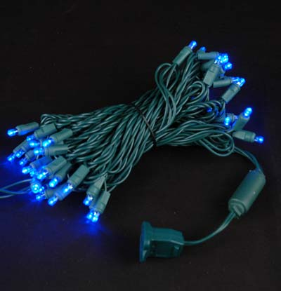 Picture of Commercial Grade Wide Angle 50 LED Blue 25' Long