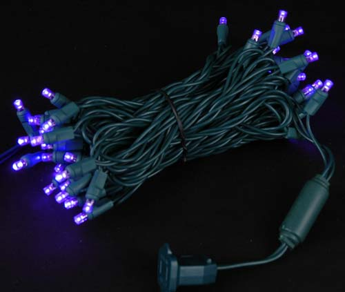 Picture of Commercial Grade Wide Angle 50 LED Purple 25' Long