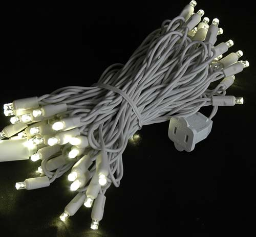 brown wire wide angle warm white 50 bulb led christmas lights sets commercial grade wide angle 50 led warm white 25 long white wire