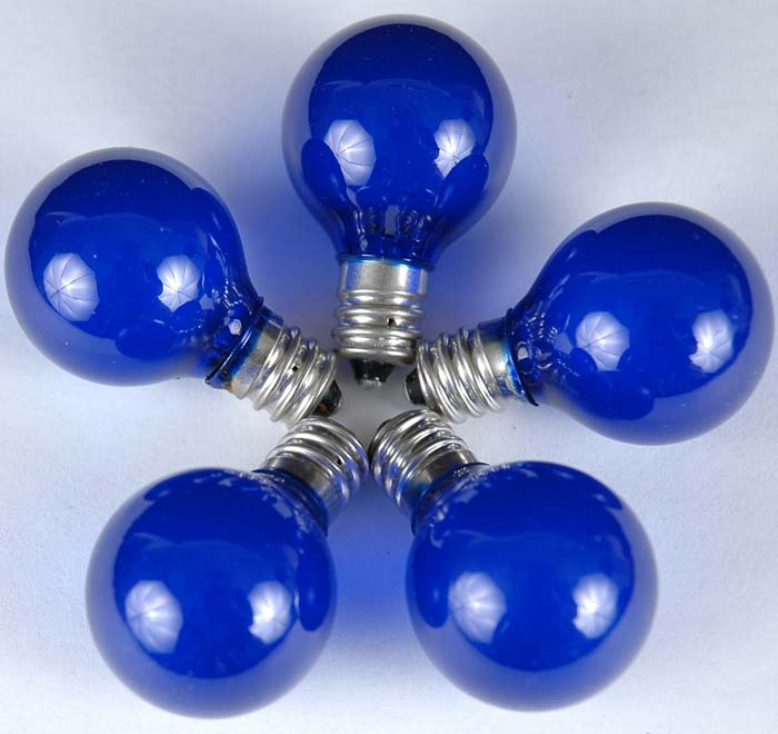 String Lights With Round Bulbs : Blue Satin G30 Globe/Round Outdoor String Light Set on Green Wire - Novelty Lights, Inc