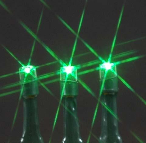 Green Solar Christmas lights with 50 Bulbs - Novelty Lights Inc