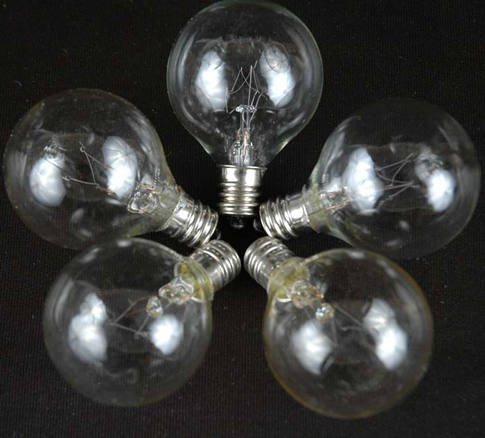 Clear G40 globe Replacement Lamps - Novelty Lights Inc