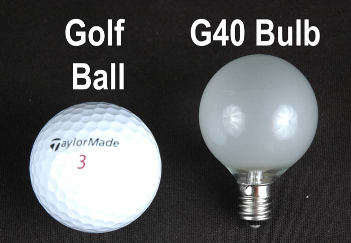 Clear G40 Globe Replacement Lamps Novelty Lights Inc