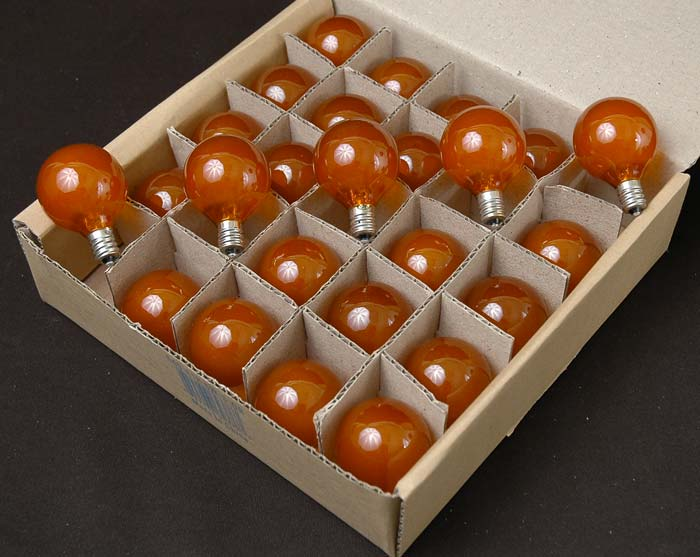 Amber And Orange G40 Globe Replacement Lamps Novelty