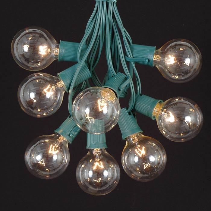 G50 Clear Globe String Lights : 100 Clear G50 Globe String Light Set on Green Wire - Novelty Lights - Inc