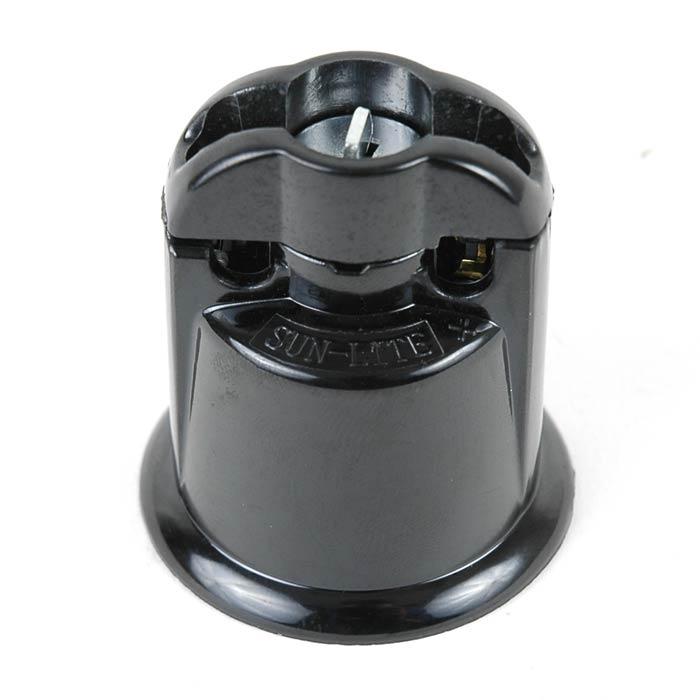Medium Base Black Bakelite Sockets Novelty Lights Inc