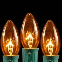 Picture for category Amber and Orange C9 Bulbs