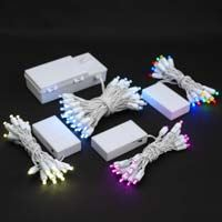 Picture for category Battery Powered LED String Lights on White Wire