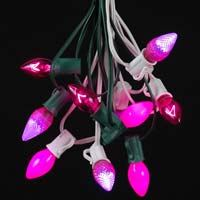 Picture for category Pink C7 Outdoor Christmas String Light Sets
