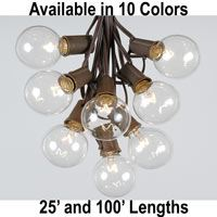 Picture for category G50 String Light Sets on Brown Wire
