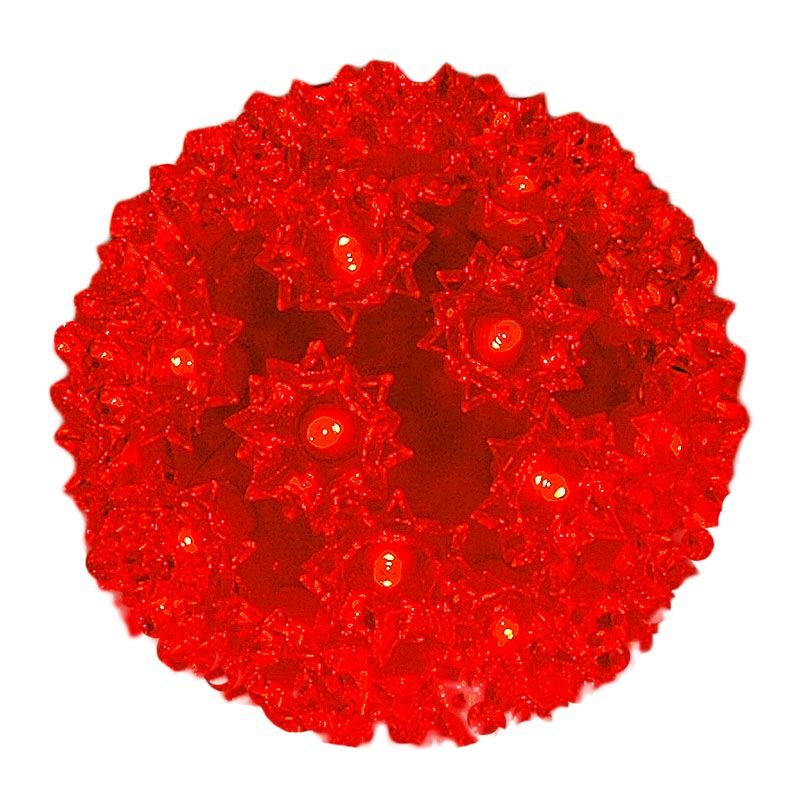 """Picture of 50 Red LED 6"""" Sphere"""