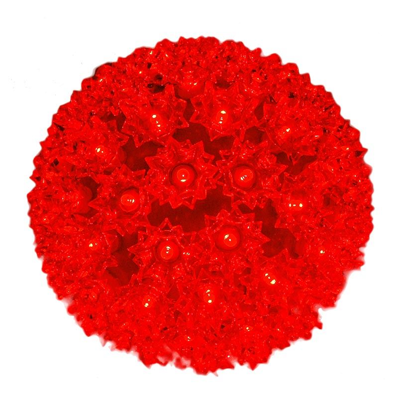"Picture of 100 Red LED 7.5"" Sphere"
