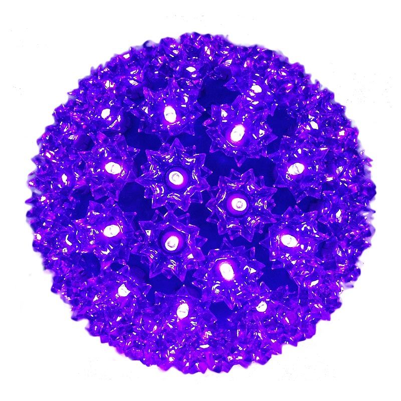 "Picture of 100 Purple LED 7.5"" Sphere"