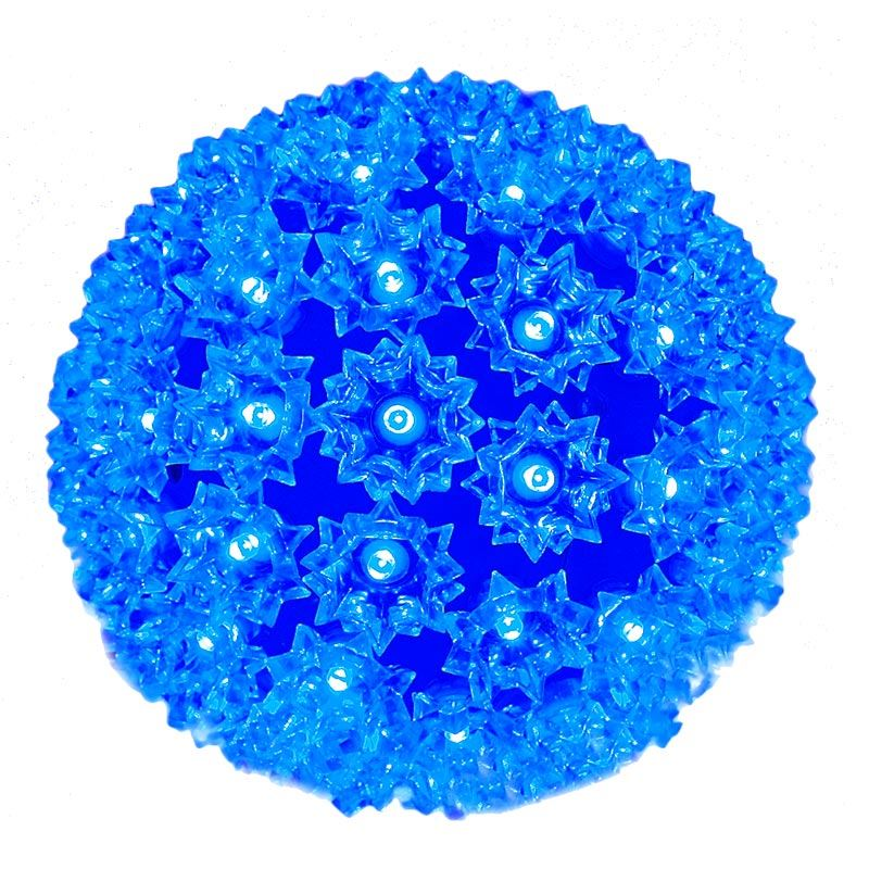 "Picture of 100 Blue LED 7.5"" Sphere"