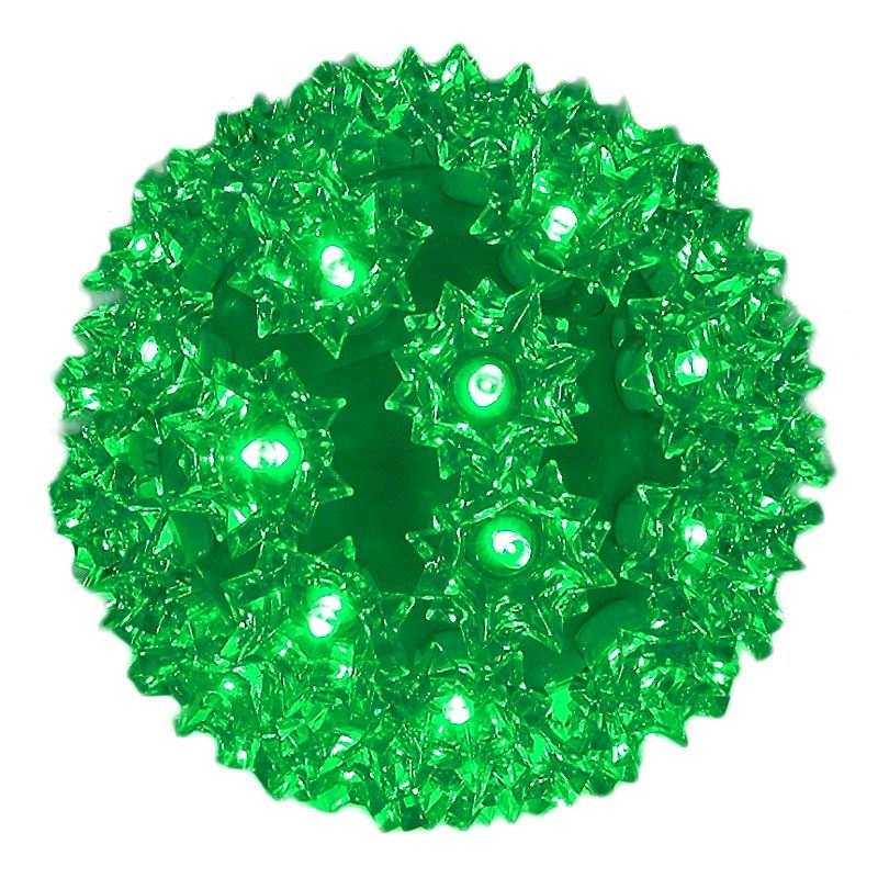 Picture of 50 LED Battery Operated Green Sphere
