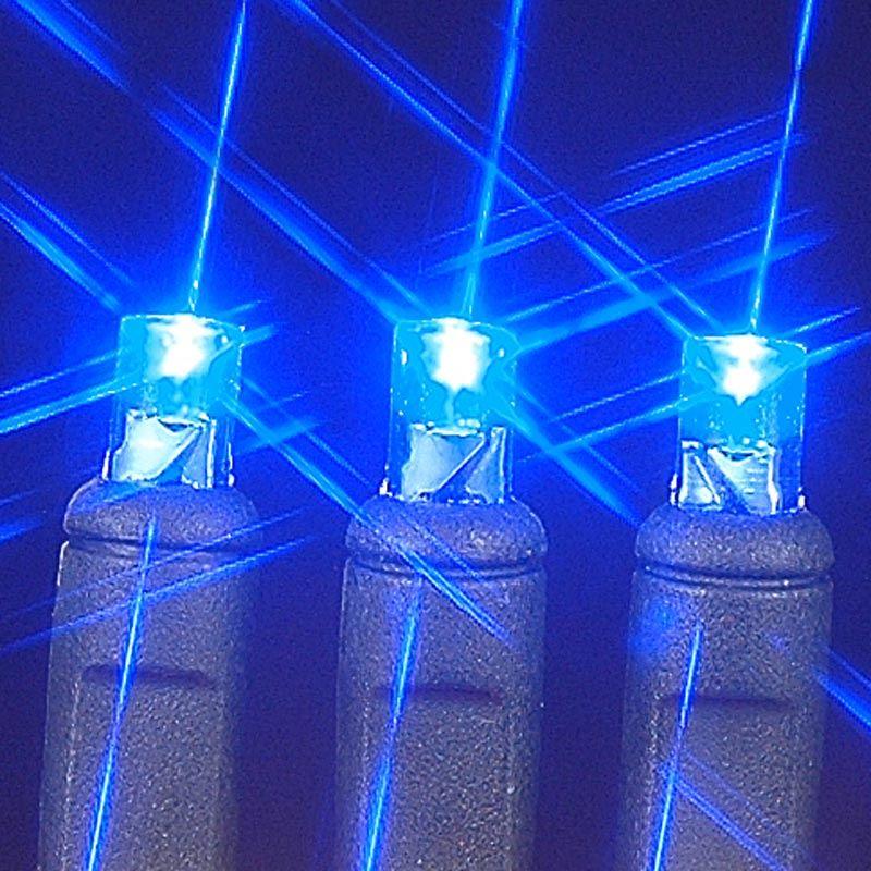 Black wire wide angle blue bulb led christmas lights