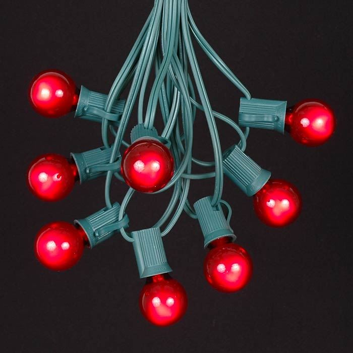 Clear String Christmas Lights : Red C7 Outdoor Christmas Light String Sets - Novelty Lights Inc